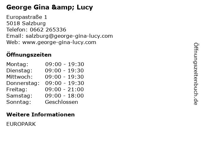 George Gina & Lucy in Salzburg: Adresse und Öffnungszeiten