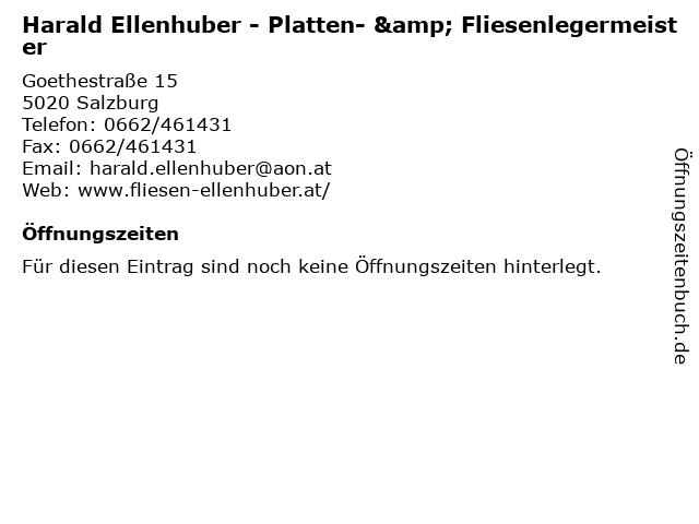 Harald Ellenhuber - Platten- & Fliesenlegermeister in Salzburg: Adresse und Öffnungszeiten