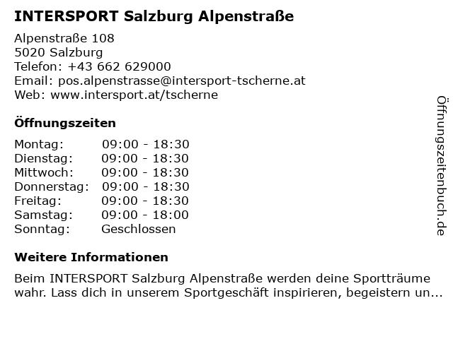 Intersport in Salzburg: Adresse und Öffnungszeiten