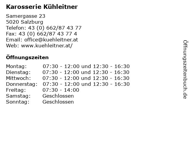 Karosserie Kühleitner in Salzburg: Adresse und Öffnungszeiten
