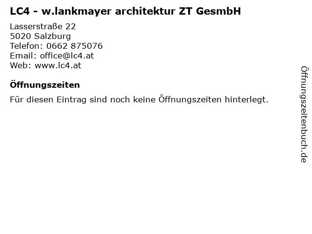 LC4 - W. Lankmayer Architektur ZT GesmbH in Salzburg: Adresse und Öffnungszeiten