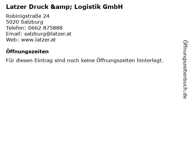 Latzer Druck & Logistik GmbH in Salzburg: Adresse und Öffnungszeiten