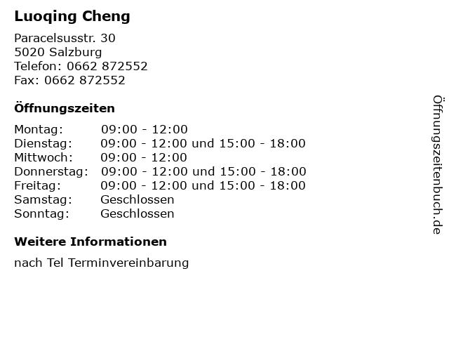 Luoqing Cheng in Salzburg: Adresse und Öffnungszeiten