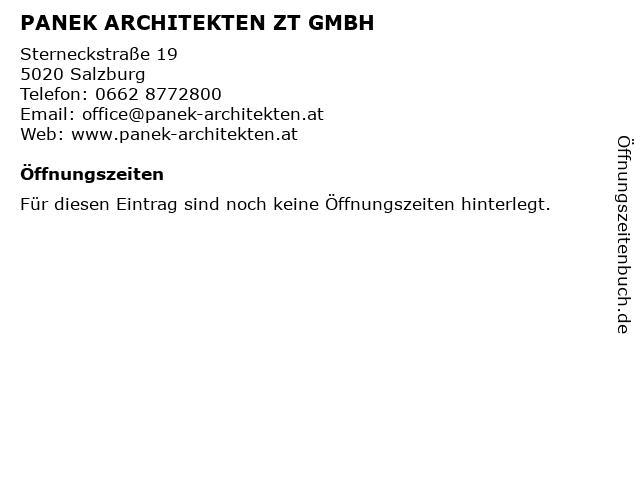 Panek Architekten ZT GmbH in Salzburg: Adresse und Öffnungszeiten