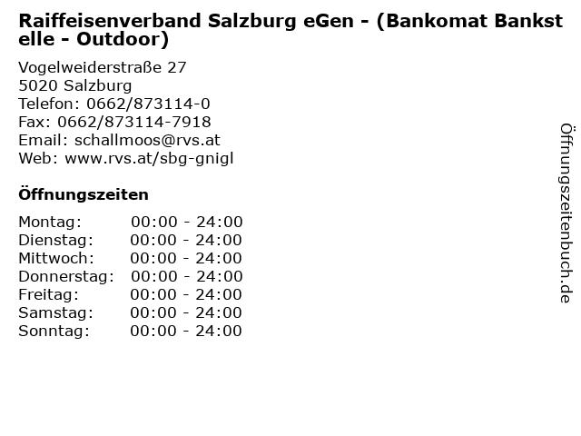 Raiffeisenverband Salzburg eGen - (Bankomat Bankstelle - Outdoor) in Salzburg: Adresse und Öffnungszeiten
