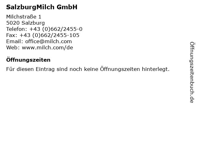 SalzburgMilch GmbH in Salzburg: Adresse und Öffnungszeiten