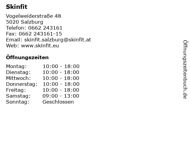 Skinfit in Salzburg: Adresse und Öffnungszeiten