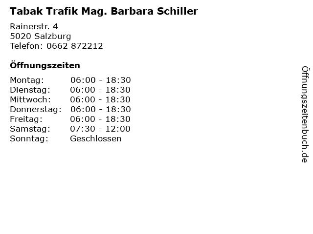 Tabak Trafik Mag. Barbara Schiller in Salzburg: Adresse und Öffnungszeiten