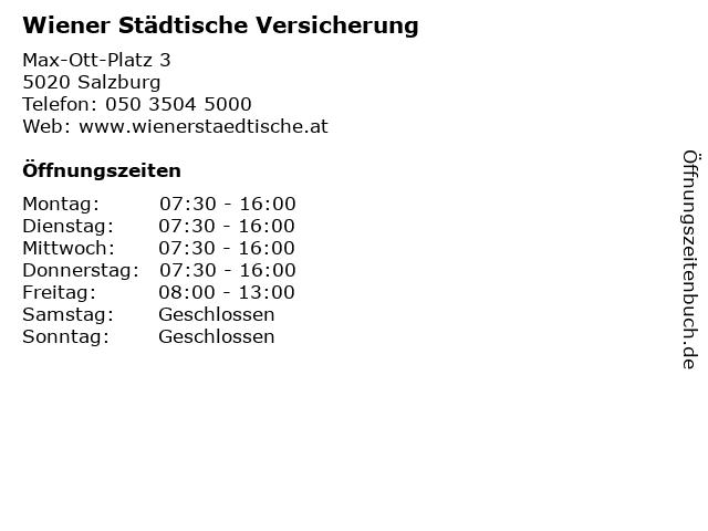 Wiener Städtische Versicherung in Salzburg: Adresse und Öffnungszeiten