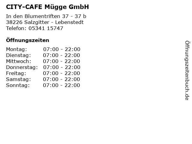 CITY-CAFE Mügge GmbH in Salzgitter - Lebenstedt: Adresse und Öffnungszeiten