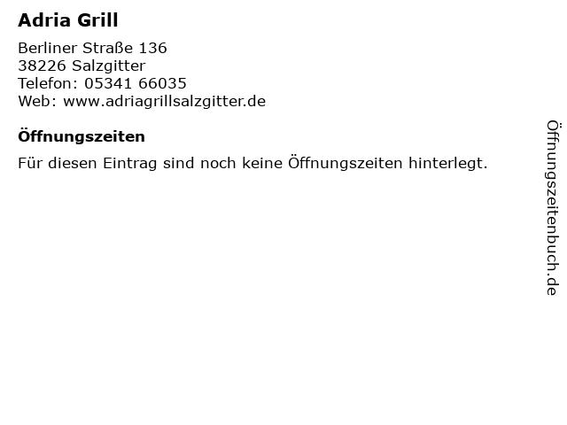 Adria Grill in Salzgitter: Adresse und Öffnungszeiten