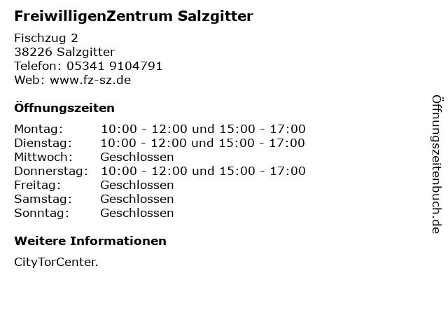 FreiwilligenZentrum Salzgitter in Salzgitter: Adresse und Öffnungszeiten