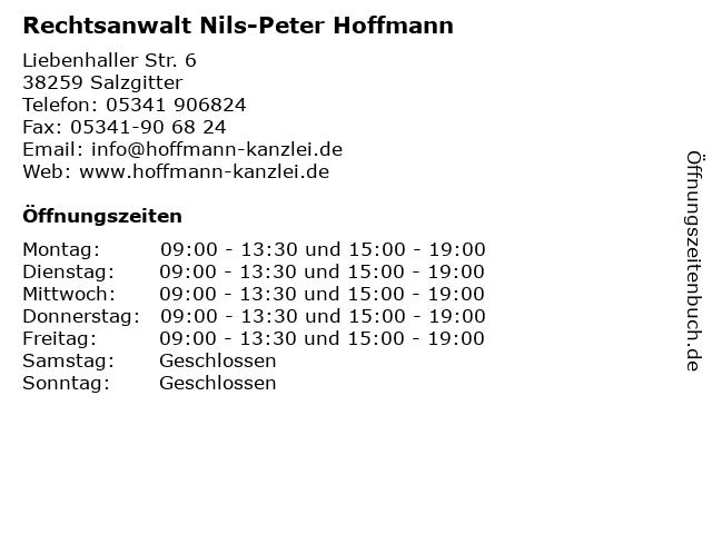 Rechtsanwalt Nils-Peter Hoffmann in Salzgitter: Adresse und Öffnungszeiten