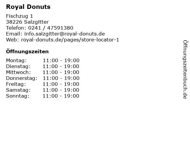 Royal Donuts in Salzgitter: Adresse und Öffnungszeiten