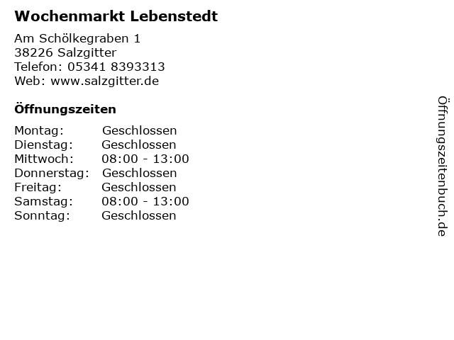 Wochenmarkt Lebenstedt in Salzgitter: Adresse und Öffnungszeiten