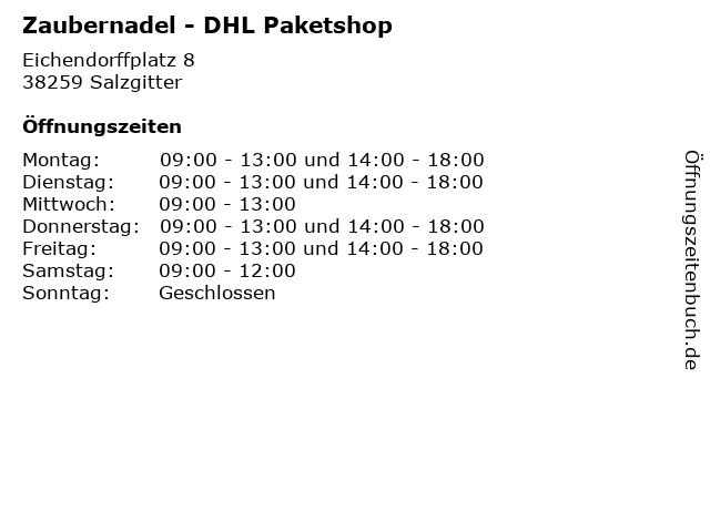 Zaubernadel - DHL Paketshop in Salzgitter: Adresse und Öffnungszeiten
