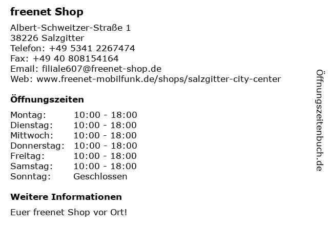 mobilcom-debitel in Salzgitter: Adresse und Öffnungszeiten