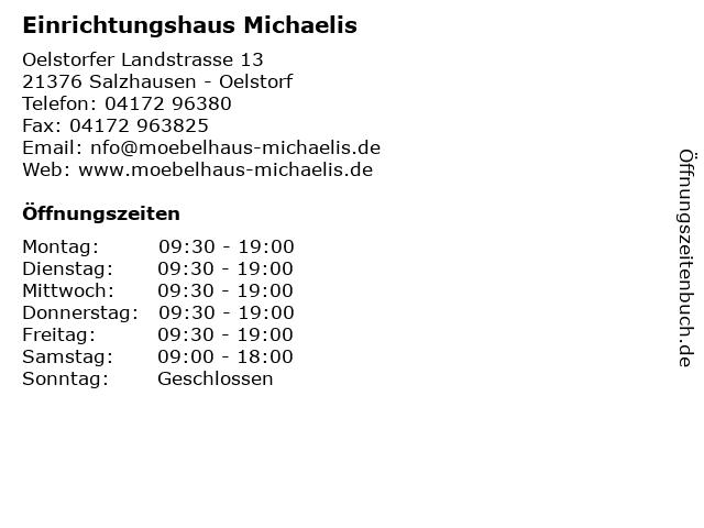 ᐅ öffnungszeiten Einrichtungshaus Michaelis Oelstorfer