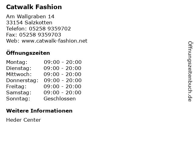 Catwalk Fashion in Salzkotten: Adresse und Öffnungszeiten