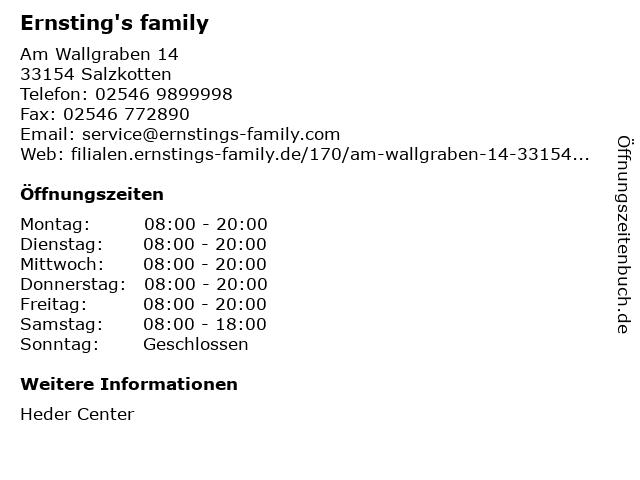 Ernsting's family in Salzkotten: Adresse und Öffnungszeiten