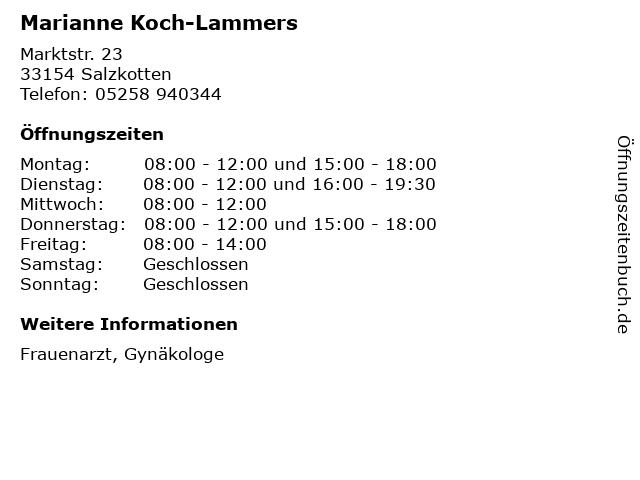 Marianne Koch-Lammers in Salzkotten: Adresse und Öffnungszeiten
