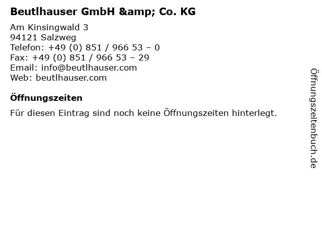 Beutlhauser GmbH & Co. KG in Salzweg: Adresse und Öffnungszeiten