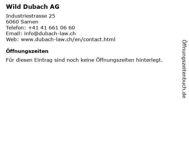 Wild Dubach AG in Samen: Adresse und Öffnungszeiten