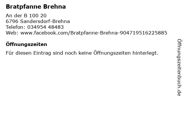 Bratpfanne Brehna in Sandersdorf-Brehna: Adresse und Öffnungszeiten