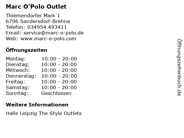 Marc'O Polo in Sandersdorf-Brehna: Adresse und Öffnungszeiten