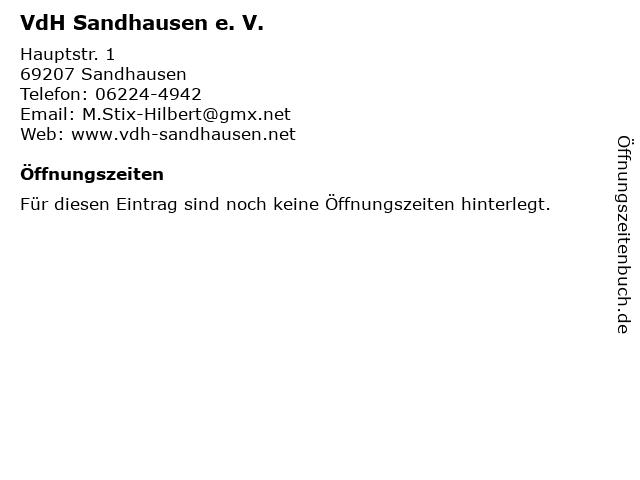 VdH Sandhausen e. V. in Sandhausen: Adresse und Öffnungszeiten
