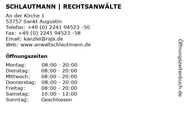 SCHLAUTMANN | RECHTSANWÄLTE in Sankt Augustin: Adresse und Öffnungszeiten
