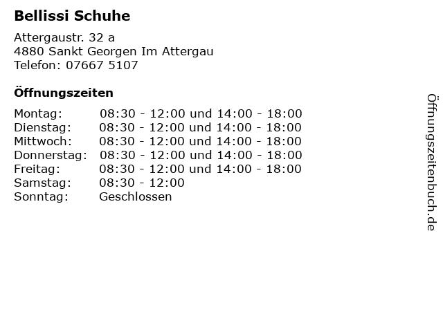 Bellissi Schuhe in Sankt Georgen Im Attergau: Adresse und Öffnungszeiten