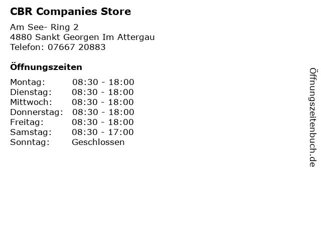 CBR Companies Store in Sankt Georgen Im Attergau: Adresse und Öffnungszeiten
