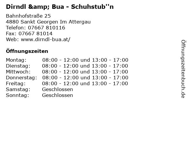 Dirndl & Bua - Schuhstub''n in Sankt Georgen Im Attergau: Adresse und Öffnungszeiten