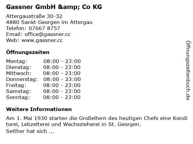 Gassner GmbH & Co KG in Sankt Georgen im Attergau: Adresse und Öffnungszeiten