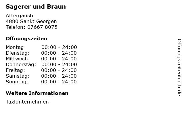 Sagerer und Braun in Sankt Georgen: Adresse und Öffnungszeiten