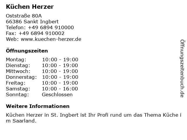 ᐅ Öffnungszeiten Küchen Herzer | Oststraße 80A in Sankt Ingbert