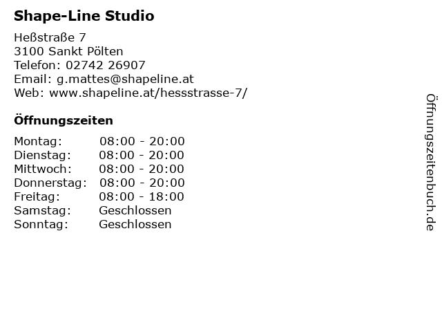 Shape-Line in Sankt Pölten: Adresse und Öffnungszeiten