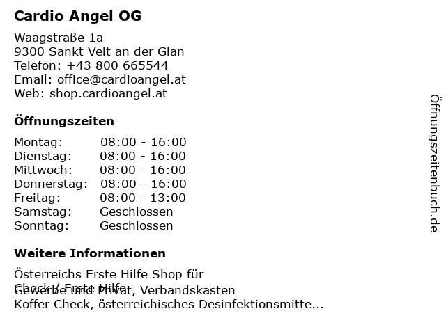 Cardio Angel OG in Sankt Veit an der Glan: Adresse und Öffnungszeiten