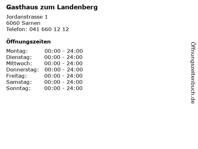 Gasthaus zum Landenberg in Sarnen: Adresse und Öffnungszeiten