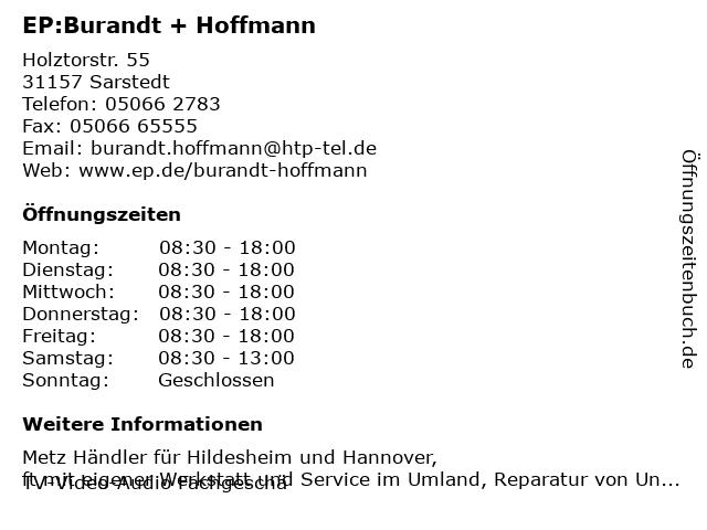 EP:Burandt + Hoffmann in Sarstedt: Adresse und Öffnungszeiten