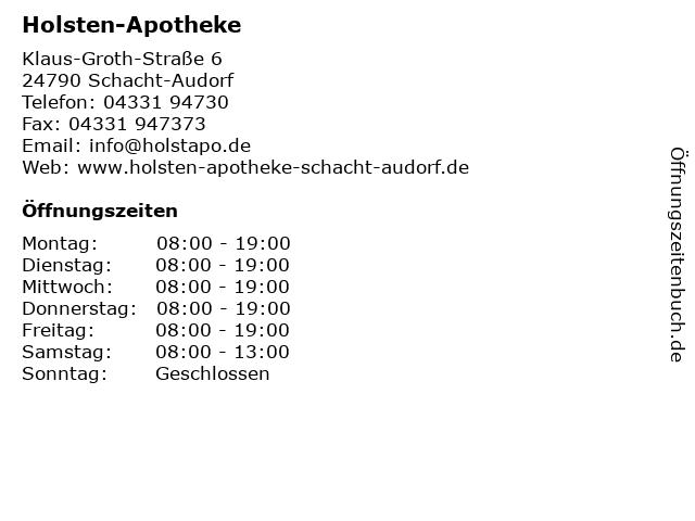Holsten-Apotheke in Schacht-Audorf: Adresse und Öffnungszeiten