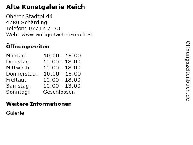 Alte Kunstgalerie Reich in Schärding: Adresse und Öffnungszeiten