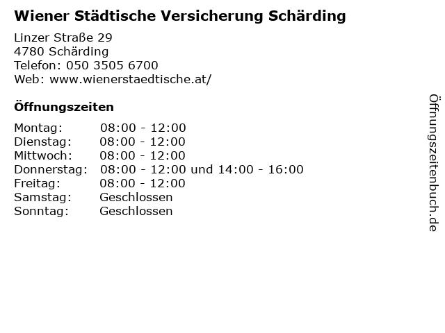 Wiener Städtische Versicherung Schärding in Schärding: Adresse und Öffnungszeiten