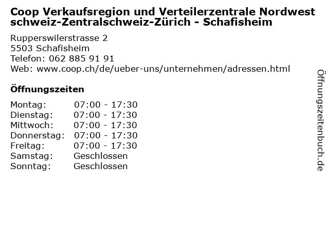 Coop Verkaufsregion und Verteilerzentrale Nordwestschweiz-Zentralschweiz-Zürich - Schafisheim in Schafisheim: Adresse und Öffnungszeiten