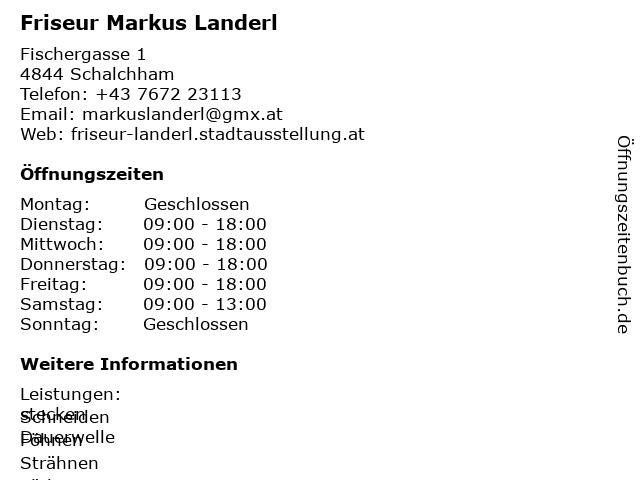 Friseur Markus Landerl in Schalchham: Adresse und Öffnungszeiten