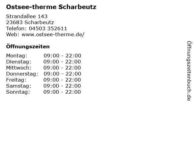 Ostsee-therme Scharbeutz in Scharbeutz: Adresse und Öffnungszeiten