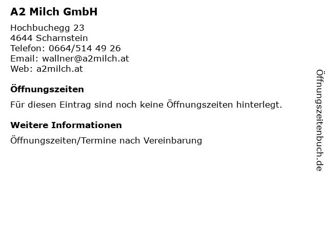 A2 Milch GmbH in Scharnstein: Adresse und Öffnungszeiten