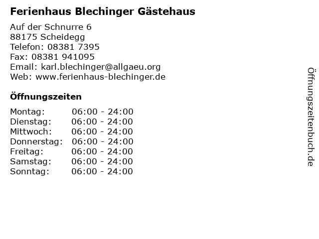 Ferienhaus Blechinger Gästehaus in Scheidegg: Adresse und Öffnungszeiten