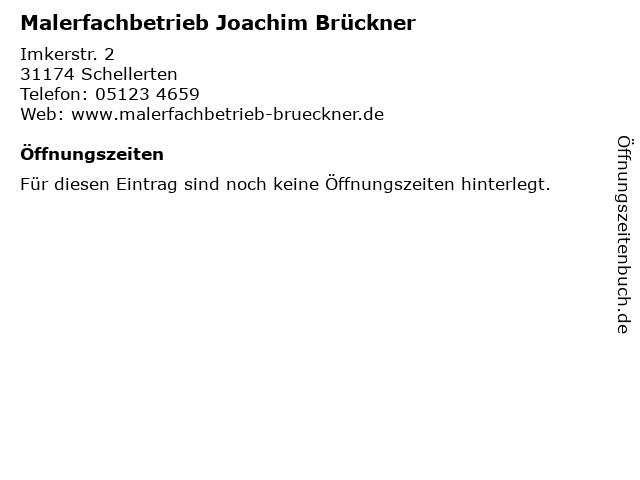 Malerfachbetrieb Joachim Brückner in Schellerten: Adresse und Öffnungszeiten